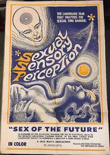 """SEXUAL SENSORY PERCEPTION! '75 JOHNNY LEGEND """"X"""" ORIGINAL U.S. OS FILM POSTER!"""