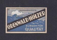 Ancienne étiquette  allumettes Allemagne  BN56399