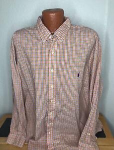 Men's Polo by Ralph Lauren L/S Button Front Shirt 3XB 3X Big - Classic Fit