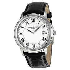 Raymond Weil Tradition White Dial Stainless Steel Mens Watch 54661-STC-00300