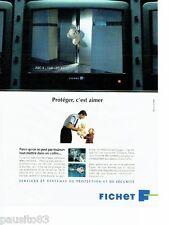 PUBLICITE ADVERTISING 116  1994  Fichet  services & systèmes protection sécurité