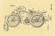 Patent Print - Elgin Bluebird  Bicycle 1940 -  Art Print. Ready To Be Framed!