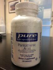 Pure Encapsulations Pantothenic Acid 500mg Large Bottle 120 capsules