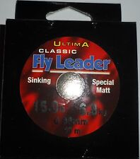 Ultima Classic Fly Leader 15 lb / 6.8 kg 0.35 mm 40m Sinking
