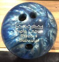Brunswick Bowling Twist Reactive Ball Size 11 Sky Blue//Pink//Snow