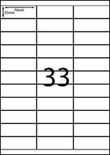 A4 Labels 100 sheets-33 labels per page