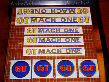 1985 GT BMX Mach One, restoration decals on clear, JT Racing, ODI, AME