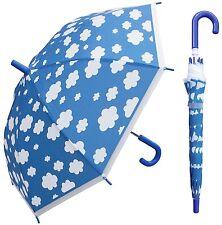 "32"" Arc Kid Children Cloud Plastic Umbrella - RainStoppers Rain Cute"
