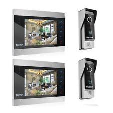 TMEZON 7 Inch TFT Color Display Wired Video Door Phone Doorbell Intercom System