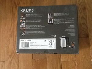 Krups Electric Kettle 10-Cup Indicator Light Automatic Shut-Off Detachable Base