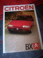 0B - Prospekt/Prospectus/Brochure/Catalogue Citroen BX 1988