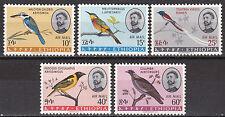 Ethiopia: Air Post Stamps: 1966: C97 - C101, Birds of Ethiopia (series 3),  MNH