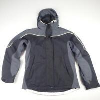 Columbia Ski Jacket Size M Black Grey Womens Snowboarding Hood Waterproof Coat