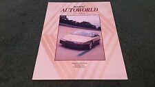 WINTER 1988 RENAULT AUTOWORLD NUMBER 106 UK BROCHURE - 5 GT TURBO 5 I-D CEVIM