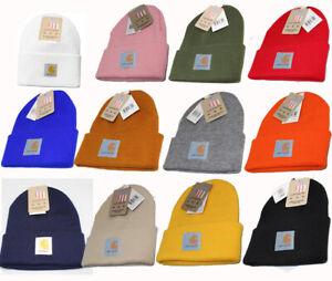 Carhartt Mens Womens Acrylic Watch Beanie Winter Knit Beanie Warm Cap Hat A18