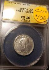 1917 S VG10 Certified Standing Liberty Quarter C117