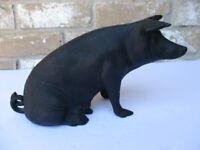 Cast Iron Bank, Sitting Black Pig,