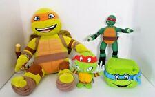 Lot Teenage Mutant Ninja Turtle Plush Stuffed Nickelodeon 3 Different Turtles