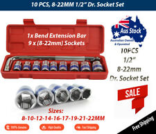 "10pcs 1/2"" Drive SRUNV short socket set (shallow) METRIC 8-22mm"