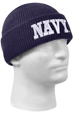 USN Military Watch Cap Winter Hat US Navy Embroidery Rothco 55440