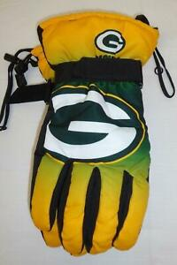 NFL Green Bay Packers Winter Gloves Gradient Big Logo Insulated Glove NEW
