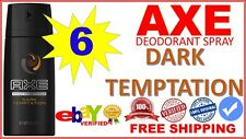 6 Pk Axe Dark Temptation Deodorant Body Spray BodySpray 150 mL Dark Temptation 6