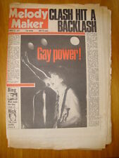 MELODY MAKER 1977 OCT 22 THE CLASH SEX PISTOLS TUBES