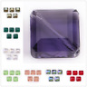 Square Spacer Craft Beads Crystal Glass 14mm Jewelry Making Bead Finding 10Pcs