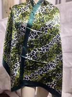 New Animal Pattern Pashmina Silk Cashmere Shawl Scarf Stole Wrap In Green  psr40