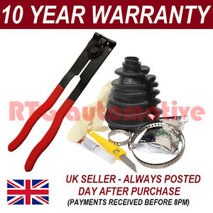 UNIVERSAL SPLIT CV BOOT KIT DRIVE SHAFT STICKY INC PLIERS FITS VARIOUS CARS