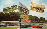 Hinesville Georgia 1960s Postcard Holaday Motel & Restaurant