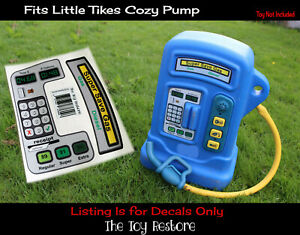 Toy Restore Replacement Stickers fits Little Tikes Cozy Coupe Gas Petrol Pump