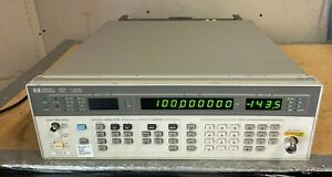 HP 8657B Signal Generator 2.05Ghz bent connector Sold for parts/ repair As is