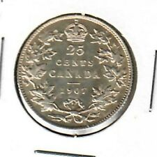 Canada 25 cents 1907 VF details