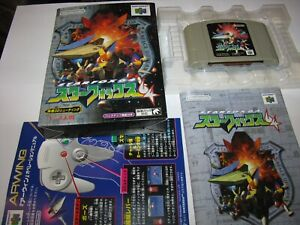 Star Fox 64 Starfox Nintendo 64 N64 Japan import Boxed + Manual CIB US Seller