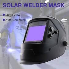 New listing Large View Weld Helmet Auto-darkening Solar Powered Lithium Battery Mig Tig Arc