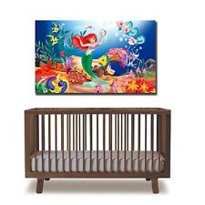 60×95×3cm The little Mermaid Lovely Princess Fish Canvas Prints Framed Wall Art