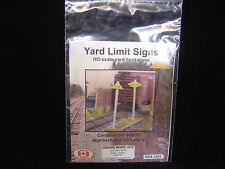 New Ho scale Osborn Models Yard Limit sign kit Rra-1053 2 sets of signs