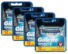 48x Gillette Mach3 Turbo Klingen Rasierklingen 48er razor blades 4x 12 OVP
