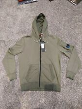 CP Company Mens green re colour arm lens zip up  hooded Sweatshirt  large hoodie