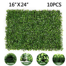 10x Artificial Privacy Fence Grass Panel Boxwood Mat Wall Hedge Decor 24