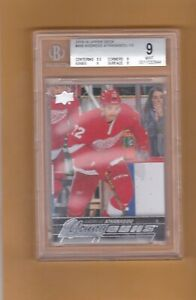 2015 16 UPPER DECK ANDREAS ATHANASIOU BGS 9 YOUNG GUNS ROOKIE #458 RED WINGS