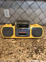 Vintage Sony CFS-914 Sports Yellow Stereo Boombox RADIO Works Cassette Repair