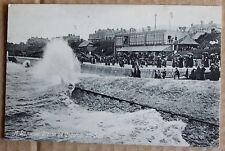 Old street scene Postcard  -  Stormy Clacton-On-Sea. Essex.
