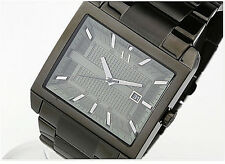 NWT Armani Exchange Men's Watch Steel IP Blackout Bracelet All Black AX2202 $180
