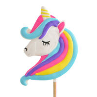 Rainbow Unicorn Giant Lollipop - Girls Party Bag Favour Lolly Pops Sweets