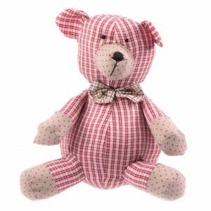 Dolce e simpatico orso orsetto in tessuto imbottito stile country 0IHB