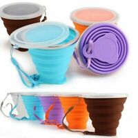 270 ml Outdoor Travel Camping Drinking Water Foldable Mug Collapsible Cup TM