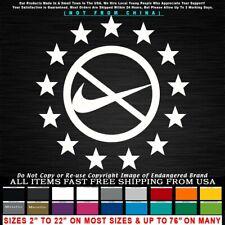Nike Boycott 13 Stars Circle Betsy Ross 1776 Patriot Kapernick Sticker Decal
