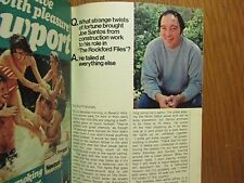 Aug. 20, 1977 TV Guide(JOE SANTOS/THE  ROCKFORD  FILES/JAMES GARNER/JADA ROWLAND